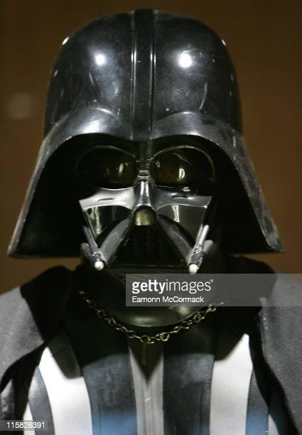 Darth Vader during Star Wars The Exhibition at County Hall in London Great Britain