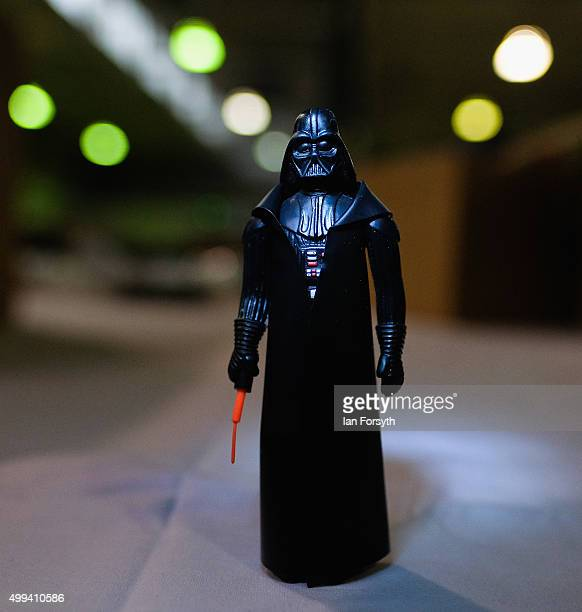 Darth Vader figure forms part of a huge collection of a Star Wars memorabilia and collectables displayed ahead of an auction at Vectis Auction House...