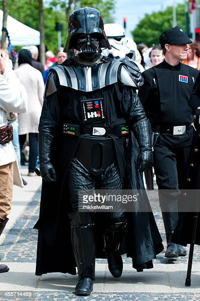Darth Vader from Star Wars out for a walk