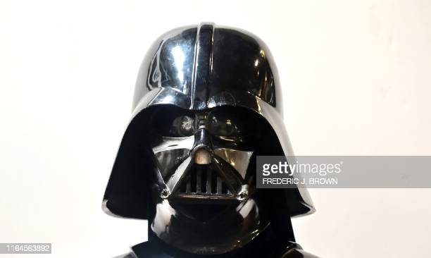 Darth Vader helmet and mask from the film The Empire Strikes Back on display at the Profiles in History auction house on August 28 2019 in Calabasas...