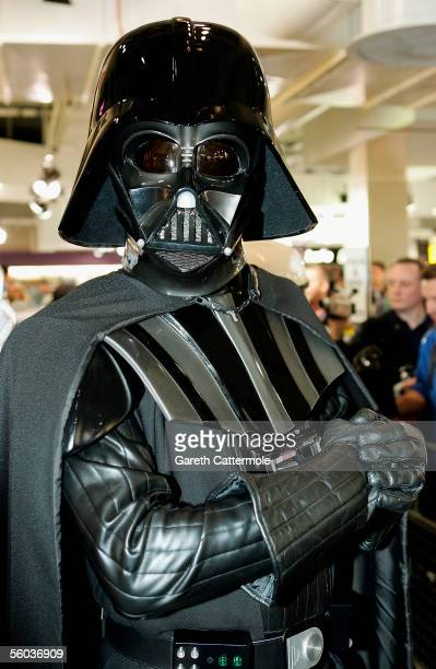Darth Vader poses at the Anthony Daniels DVD signing of the latest DVD in the collection 'Star Wars Episode III Revenge Of The Sith' at HMV Oxford...