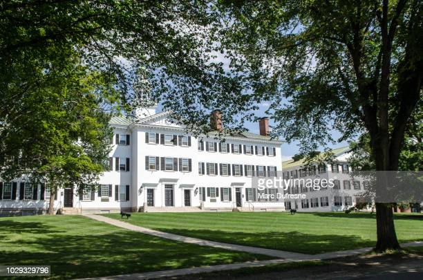Dartmouth Hall Building of Dartmouth College in Hanover - New Hampshire during summer day