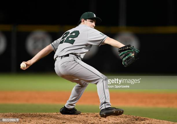 Dartmouth left handed pitcher Michael Parsons pitches during a college baseball game between the Dartmouth College Big Green and the University of...