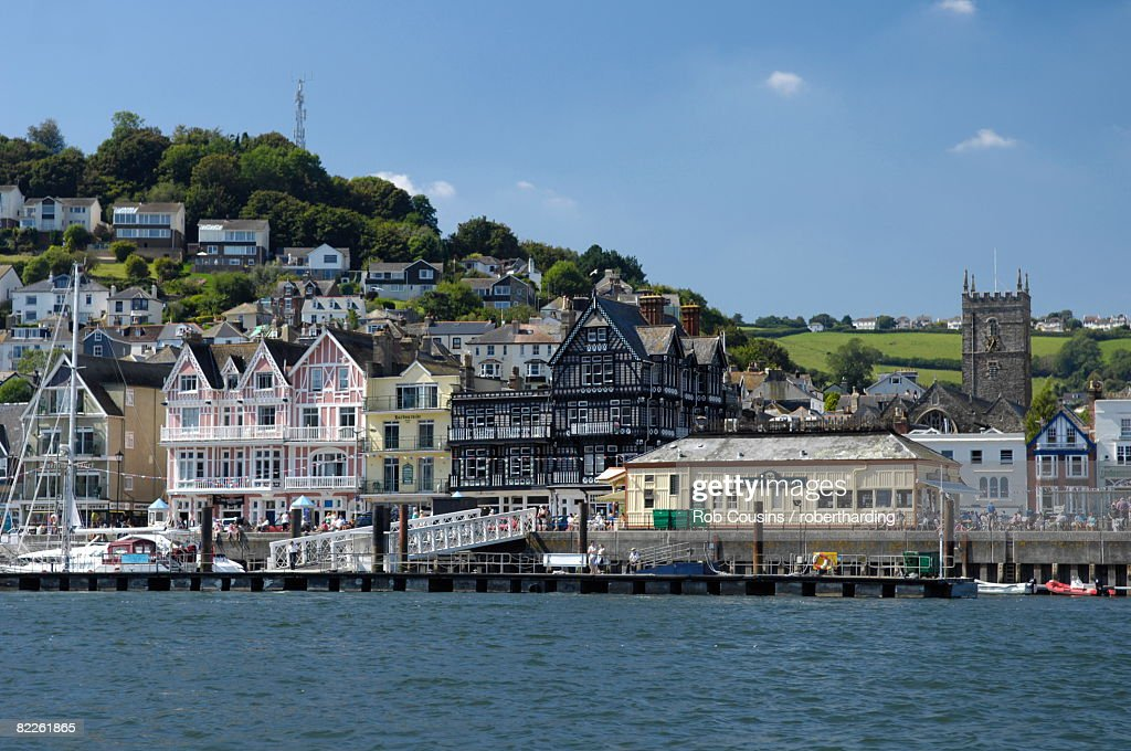 Dartmouth waterfront, South Devon, England, United Kingdom, Europe : Stock Photo
