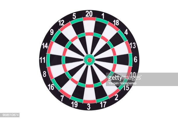 darts board isolated on white background. new dartboard for darts game. - competition round stock pictures, royalty-free photos & images
