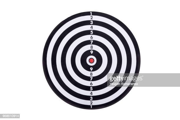 darts board isolated on white background. new dartboard for darts game. - point scoring stock pictures, royalty-free photos & images