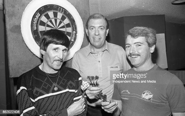 Darts Exhibition match by International Player John Lowe in Molly Malone's Jimmy Doyle Pearse Street and Dermot Keogh Bridgefoot Street Both are from...