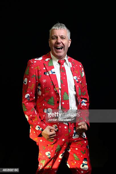 Darts fan Dave Isles dressed in a snowman red suit poses ahead Day Eight of the William Hill PDC World Darts Championships at Alexandra Palace on...