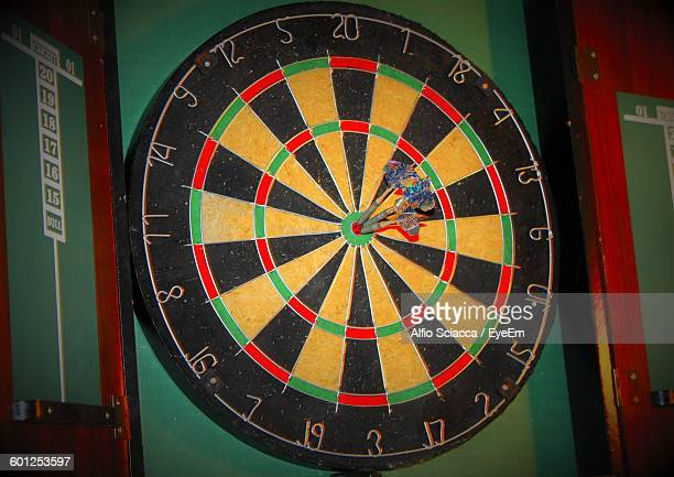 Darts On Bull-Eye