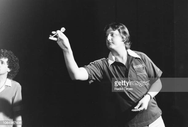 Darts player Eric Bristow in action November 30th 1982
