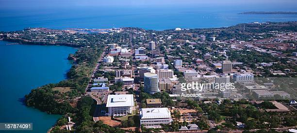 Darwin city and CBD from the air Northern Territory Australia