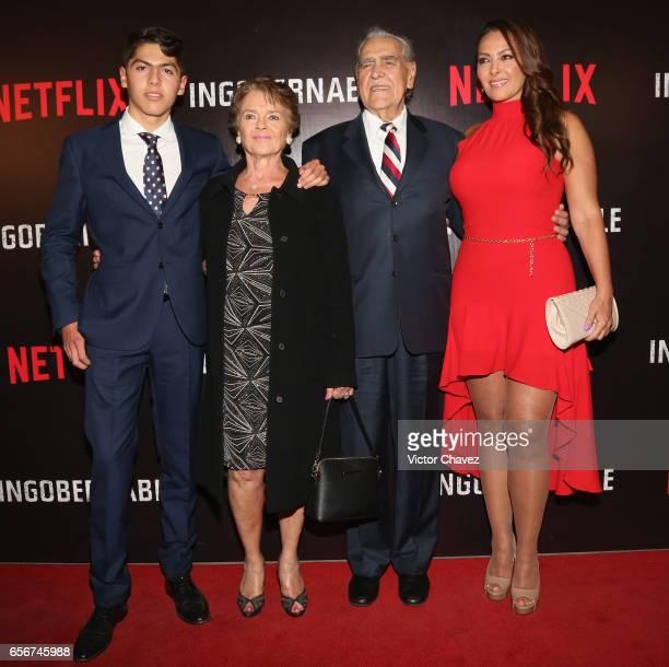 Darwin del Castillo Kate Trillo Graham Eric del Castillo and Veronica del Castillo attend the launch of Netflix's series Ingobernable red carpet at...