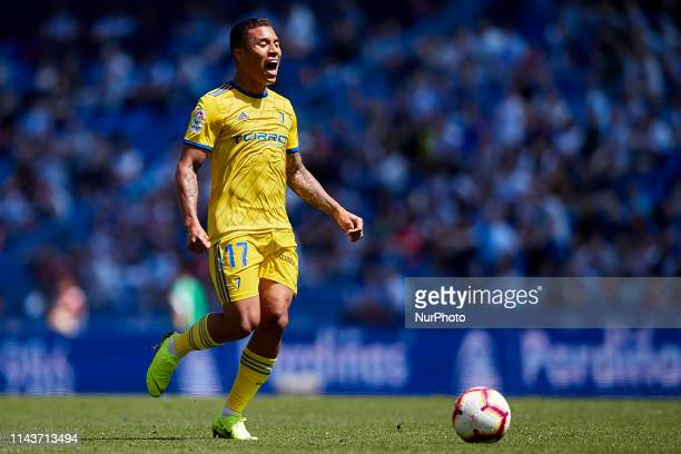 Darwin Machis of Cadiz CF during the La Liga 123 match between Deportivo de La Coruna and Cadiz CF at Abanca Riazor Stadium on May 12, 2019 in La...