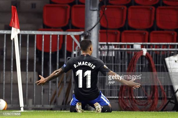 Darwin Machis of Granada celebrates 1-2 during the UEFA Europa League group E match between PSV Eindhoven and Granada CF at the PSV stadium on...