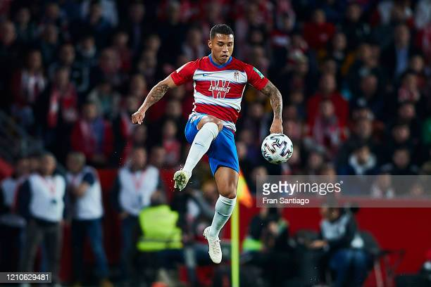 Darwin Machis of Granada CF in action during the Copa del Rey semi-final 2nd leg match between Granada CF and Athletic Club at Estadio Nuevo Los...