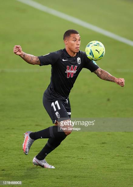 Darwin Machis of Granada CF in action during the La Liga Santander match between Cadiz CF and Granada CF at Estadio Ramon de Carranza on October 04,...