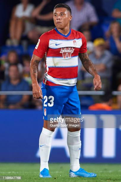 Darwin Machis of Granada CF in action during the Liga match between Villarreal CF and Granada CF at Estadio de la Ceramica on August 17, 2019 in...