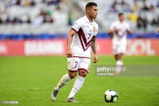 Darwin Machís of Venezuela during the Copa America Brazil 2019 group A match between Bolivia and Venezuela at Mineirao Stadium on June 22, 2019 in...