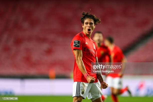 Darwin Nunez of SL Benfica celebrates scoring SL Benfica second goal during the Liga NOS match between SL Benfica and Belenenses SAD at Estadio da...