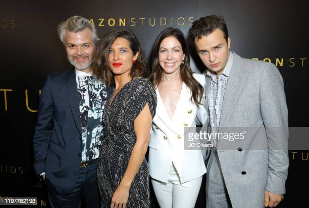 Darwin Serink Chelsea Winstanley Tommee May and Mojean Aria attend the Amazon Studios Golden Globes After Party at The Beverly Hilton Hotel on...