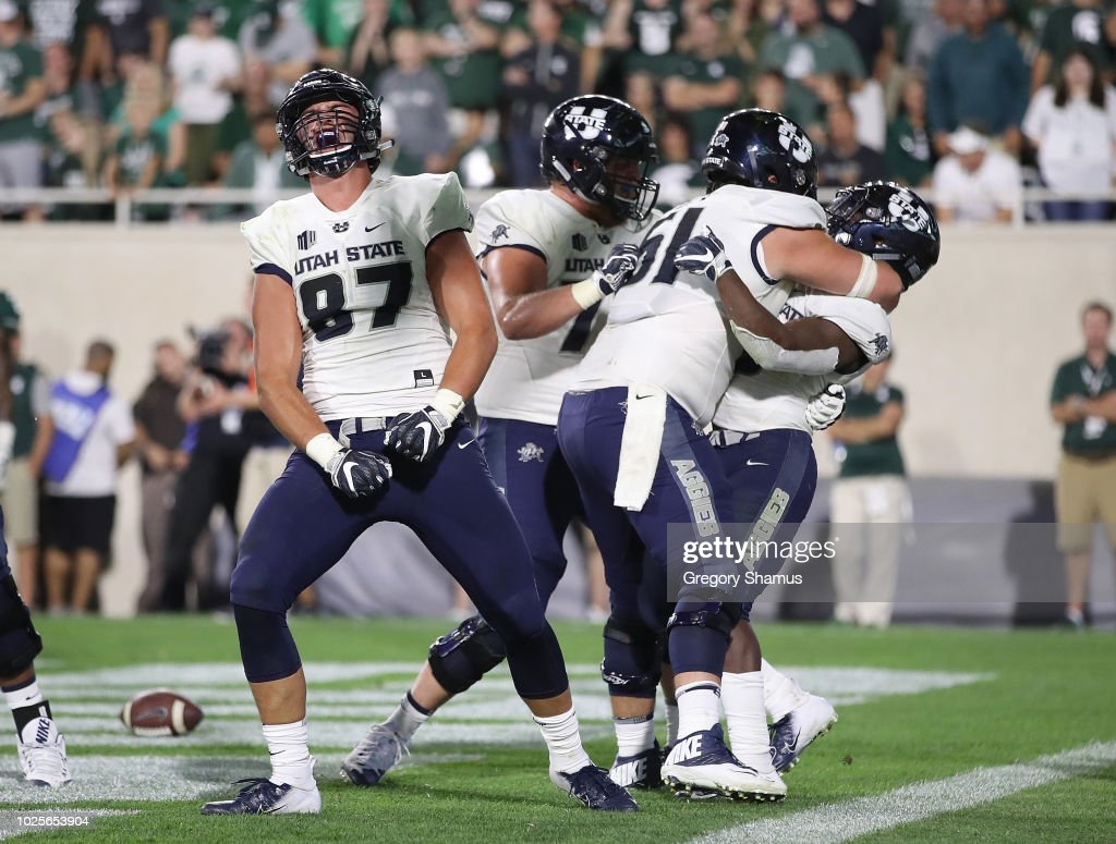 Utah State v Michigan State : News Photo