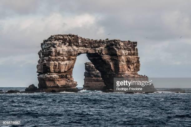darwins arch, darwin island, seymour, galapagos, ecuador, south america - darwin island stock photos and pictures