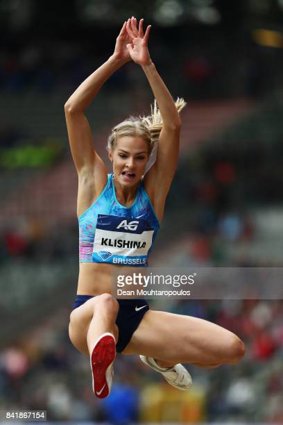 Darya Klishina of Authorised Neutral Athletes or ANA competes in the Womens Long Jump Final during the AG Memorial Van Damme Brussels as part of the...
