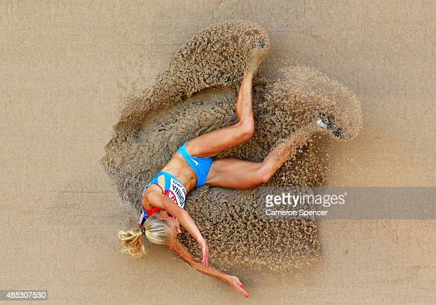 Darya Klishina of Russia competes in the Women's Long Jump qualification during day six of the 15th IAAF World Athletics Championships Beijing 2015...