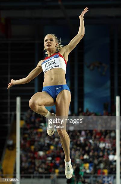 Darya Klishina of Russia competes in the Women's Long Jump Final during day three of the 14th IAAF World Indoor Championships at the Atakoy Athletics...