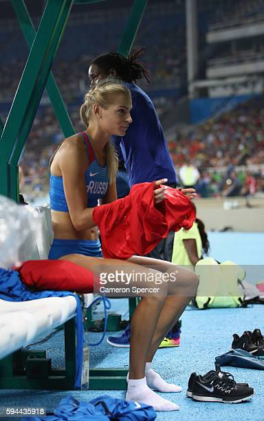 Darya Klishina of Russia is seen during the Women's Long Jump final on Day 12 of the Rio 2016 Olympic Games at the Olympic Stadium on August 17 2016...