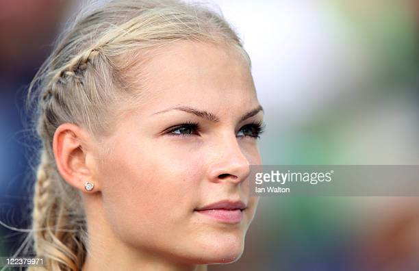 Darya Klishina of Russia prepares to compete in the women's long jump final during day two of 13th IAAF World Athletics Championships at the Daegu...