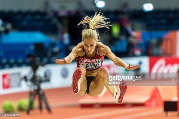 Darya KlishinaEA during Long Jump for women at European athletics indoor championships in Belgrade 4 march 2017