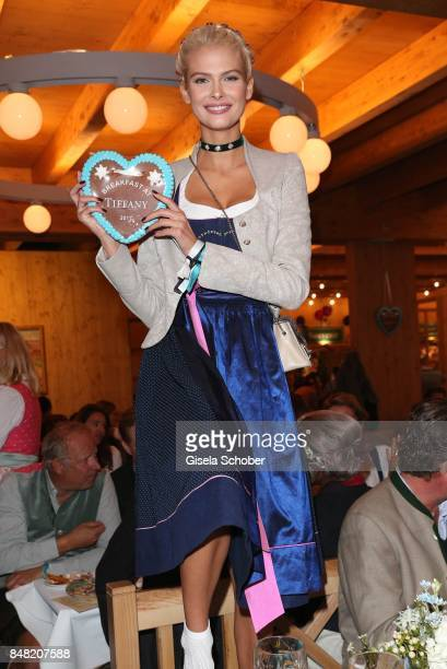 Darya Strelnikova during the Breakfast at Tiffany at Schuetzenfesthalle at the Oktoberfest on September 16, 2017 in Munich, Germany.