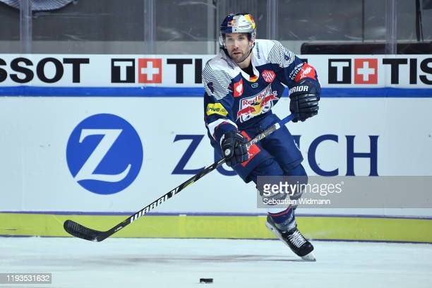 Daryl Boyle of EHC Muenchen in action during the Champions Hockey League quarter finals second leg match between EHC Red Bull Muenchen and Djurgarden...