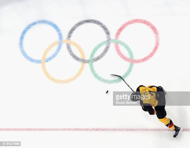 Daryl Boyle of Germany skates againt Finland during the Men's Ice Hockey Preliminary Round Group C game on day six of the PyeongChang 2018 Winter...