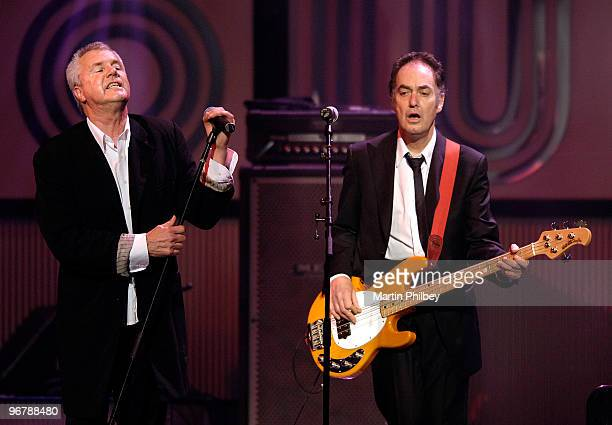 Daryl Braithwaite and Tony Mitchell of Sherbet perform on stage at Countdown Spectacular at the Rod Laver Arena on 7th September 2006 in Melbourne...