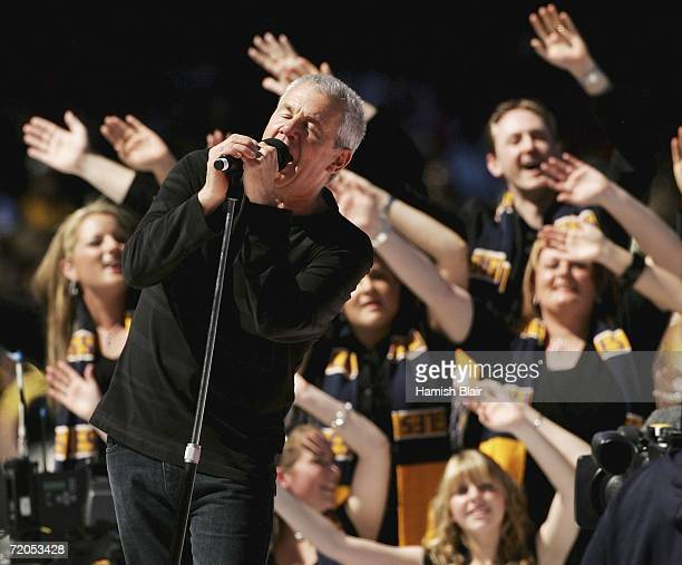Daryl Braithwaite performs as part of the pre match entertainment before the AFL Grand Final match between the Sydney Swans and the West Coast Eagles...