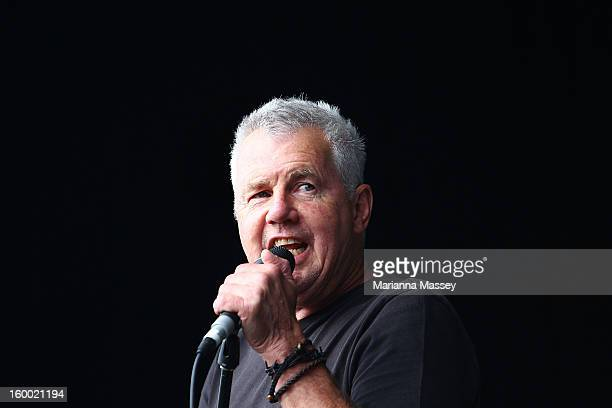 Daryl Braithwaite performs live on the Heineken live stage of the 2013 Australian Open at Melbourne Park on January 25 2013 in Melbourne Australia