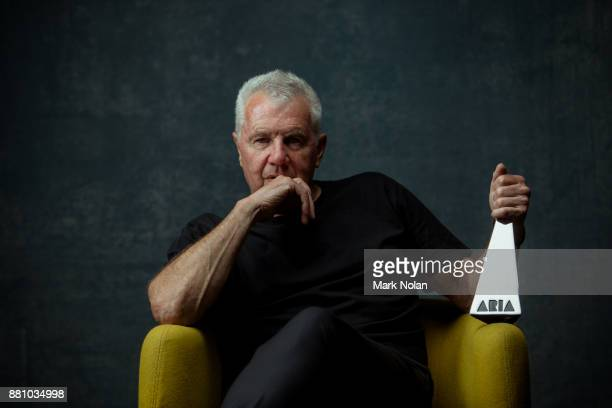 Daryl Braithwaite poses for a portrait with an ARIA after being inducted into the Aria Hall of Fame during the 31st Annual ARIA Awards 2017 at The...