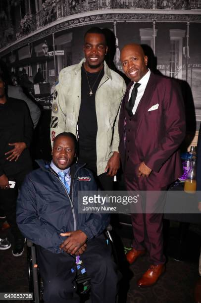 Daryl 'Chill' Mitchell Paul Millsap and Kenny Smith attend the Kenny Smith All Star Bash at Metropolitan Nightclub on February 17 2017 in New Orleans...