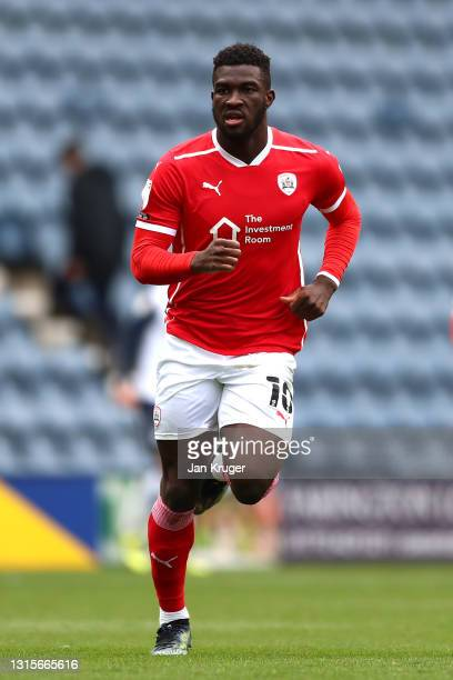 Daryl Dike of Barnsley during the Sky Bet Championship match between Preston North End and Barnsley at Deepdale on May 01, 2021 in Preston, England....