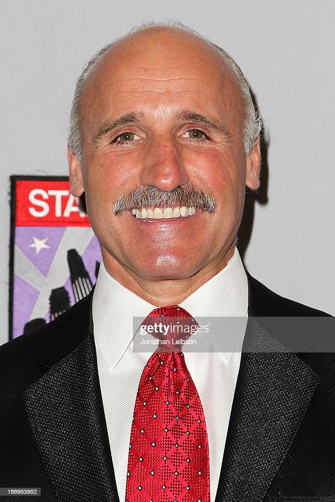 Daryl Evans attends the LA Kings Chalk Talk & Game Experience at Staples Center on April 18, 2013 in Los Angeles, California.