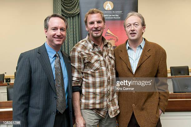 Daryl Friedman Kenny Loggins and Paul Katz pose for a photo during the Washington DC Chapter's Recording Arts and Sciences Caucus Briefing at Rayburn...