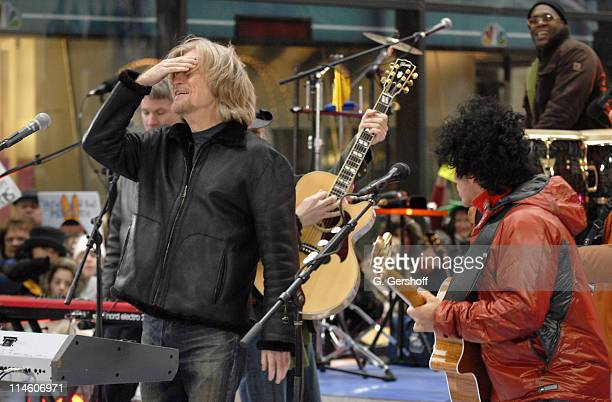 Daryl Hall and John Oates during Hall Oates Perform on NBC's The Today Show November 22 2006 at NBC Studios in New York New York United States