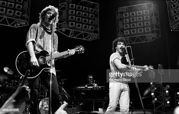 Daryl Hall and John Oates from Hall and Oates performs at the Peoria Civic Center in Peoria Illinois in January 1985
