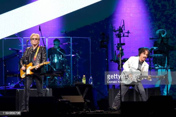 Daryl Hall and John Oates of Hall Oates perform in concert at Etess Arena on August 30 2019 in Atlantic City New Jersey