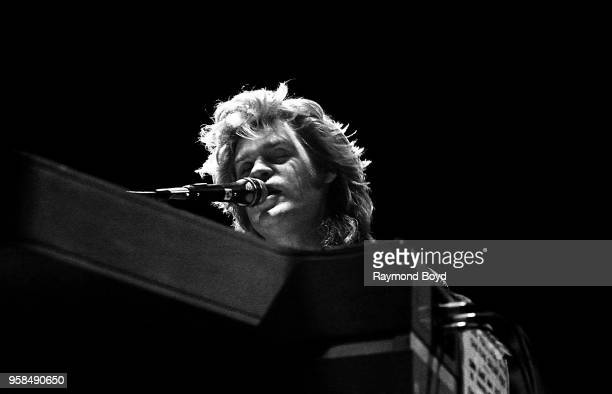 Daryl Hall from Hall and Oates performs at the Peoria Civic Center in Peoria Illinois in January 1985