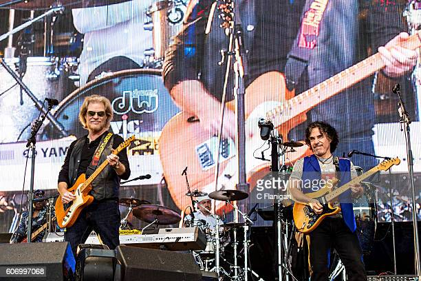 Daryl Hall John Oates perform on the Sunset Cliffs Stage during the 2016 KAABOO Del Mar at the Del Mar Fairgrounds on September 16 2016 in Del Mar...