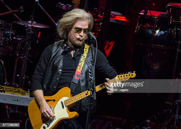 Daryl Hall of the Daryl Hall John Oates band performs at DTE Energy Music Theater on July 18 2016 in Clarkston Michigan