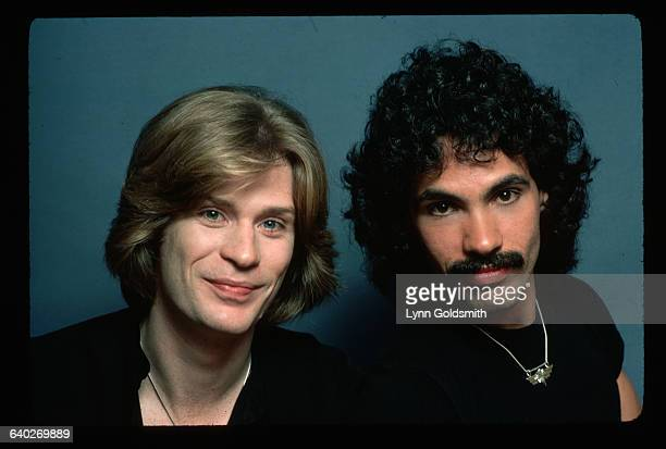 Daryl Hall singer and John Oates guitarist of the pop group Hall and Oates